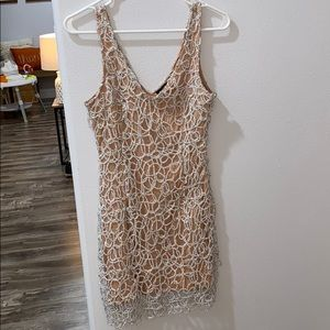 Silver Layered Party Christmas / New years Dress